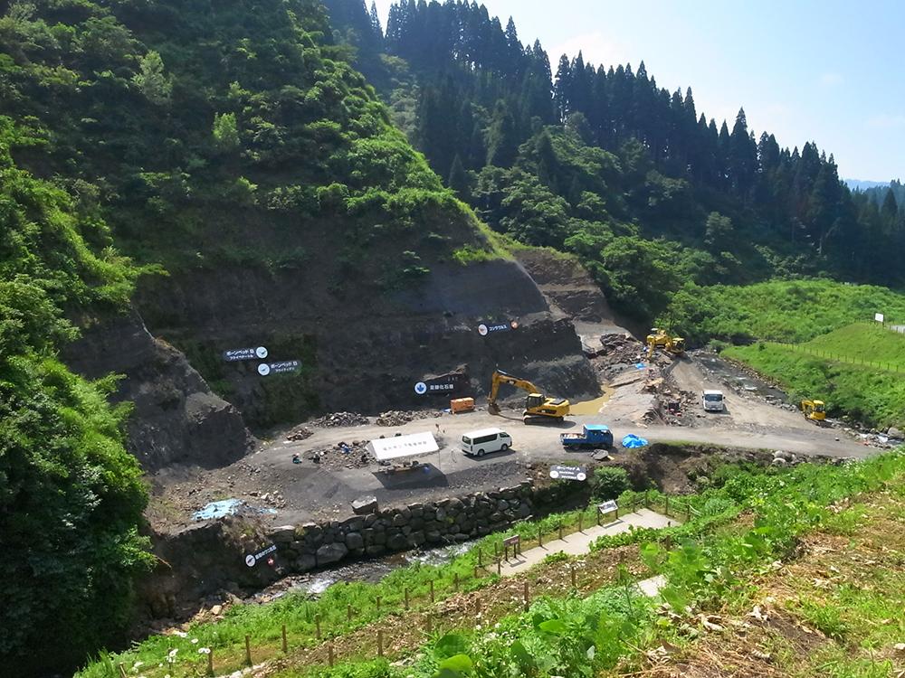 福井県立恐竜博物館 化石発掘場