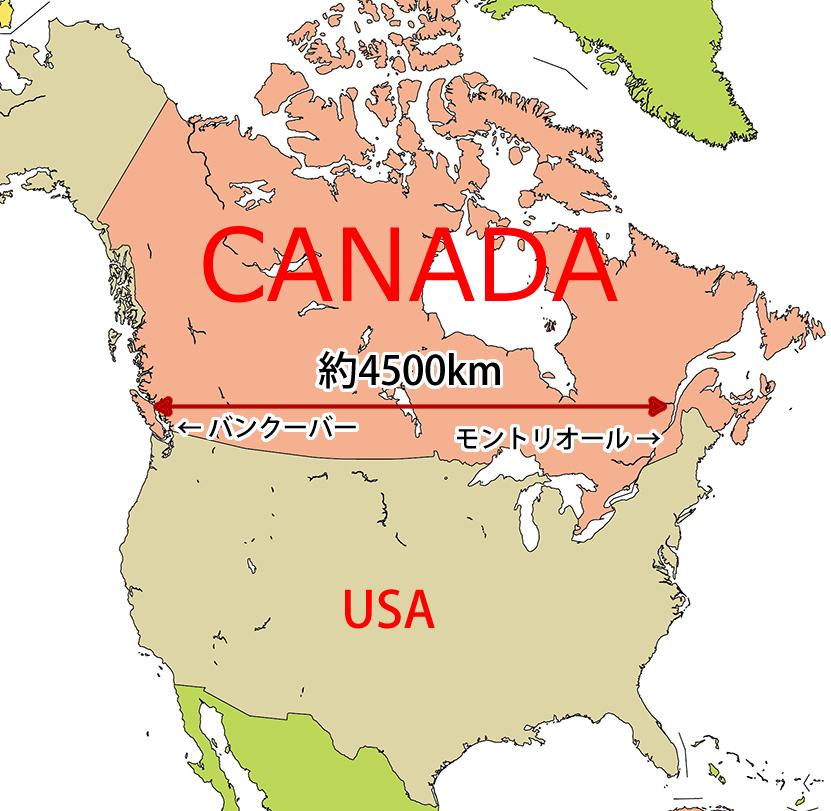 カナダ 地図