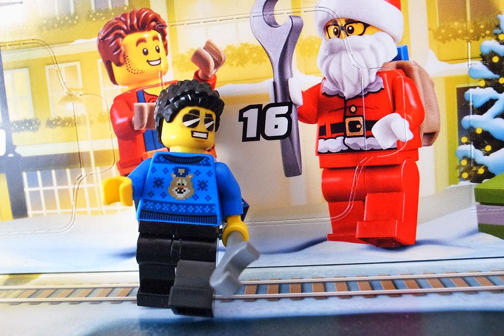 レゴ アドベントカレンダー 2020 ミニフィギュア パンチパーマのお兄さん