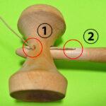 けん玉の糸 交換 方法