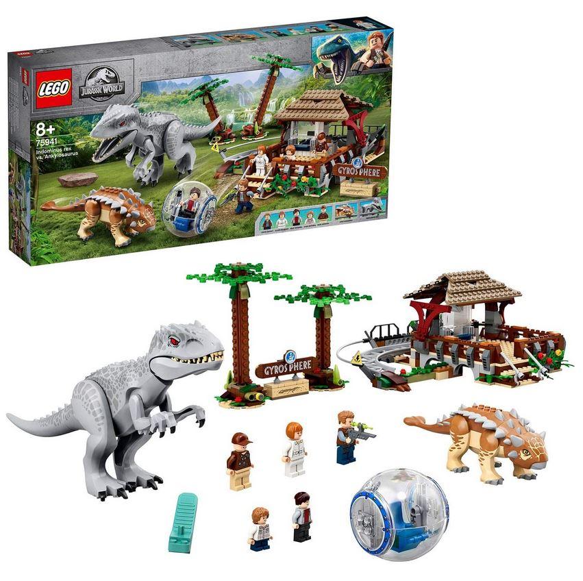 レゴ(LEGO)ジュラシック・ワールド インドミナス・レックス vs. アンキロサウルス 75941