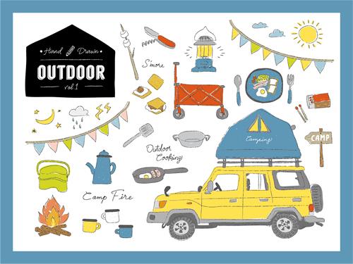 キャンプ キャンピングカー ルーフトップテント