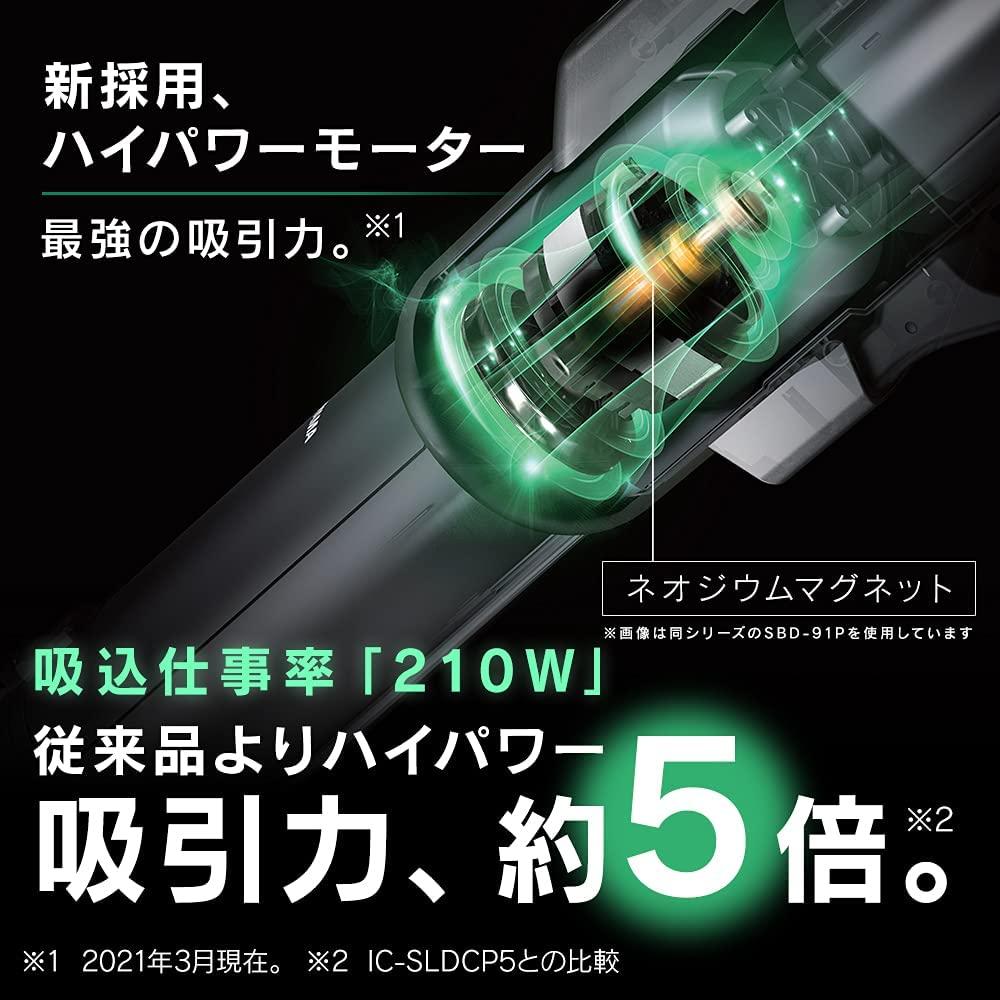 アイリスオーヤマ スティッククリーナー i10 SBD-92P-S