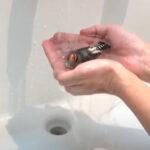 キンカチョウのお風呂 シャワー