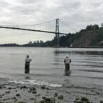 カナダ サーモン釣り ライオンズゲートブリッジ