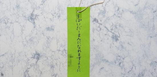 園児 七夕 願い